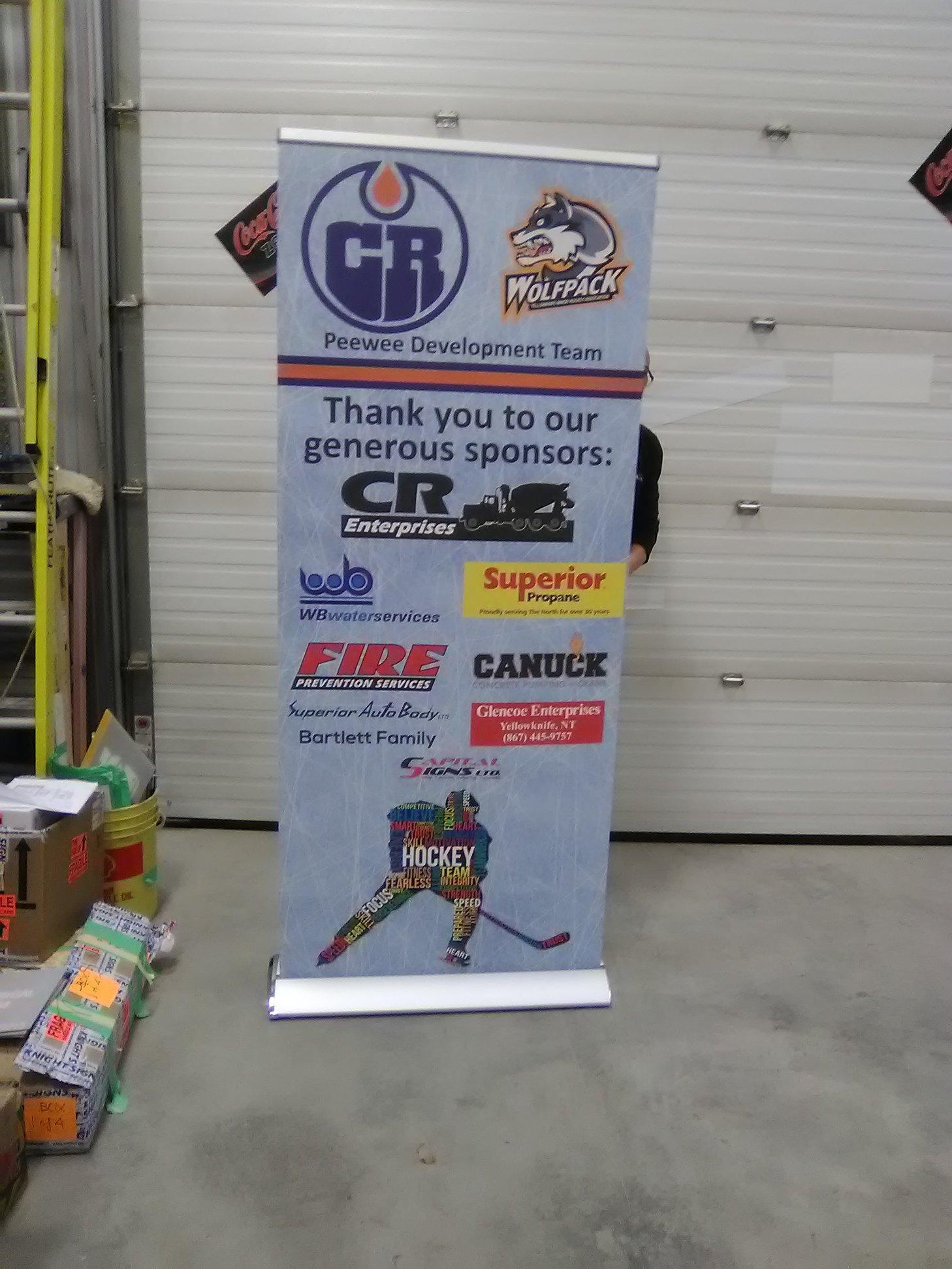Peewee Hockey Recognition Sponsorship Banner