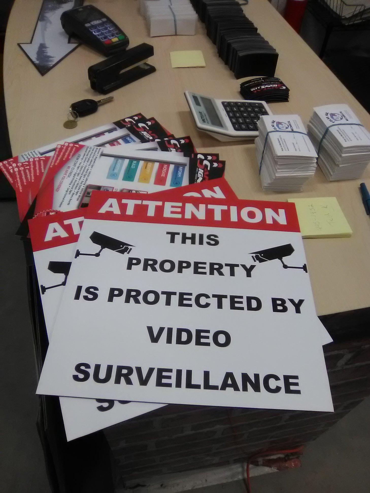Custom Surveillance Signage