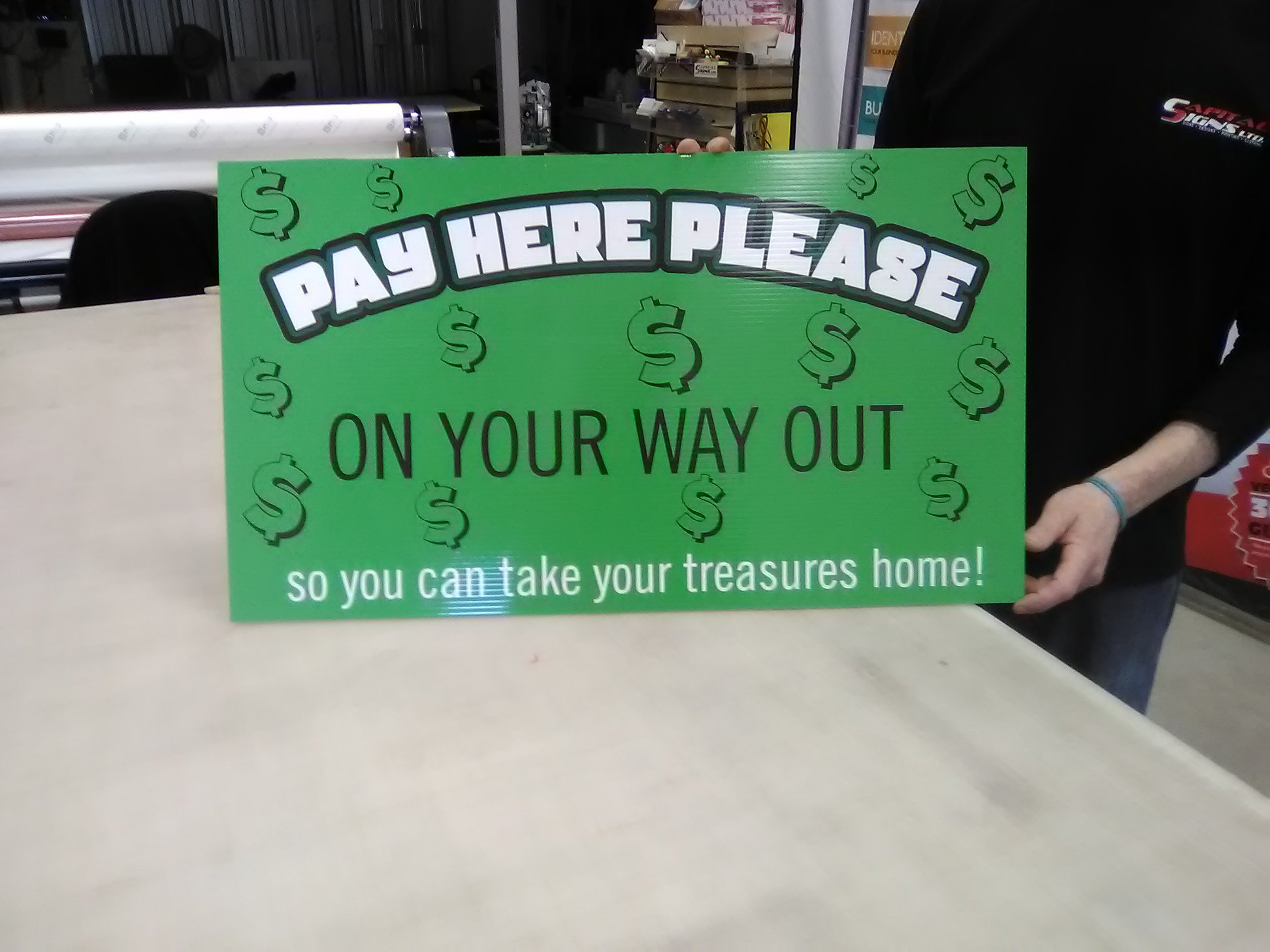 Customer Store Signage