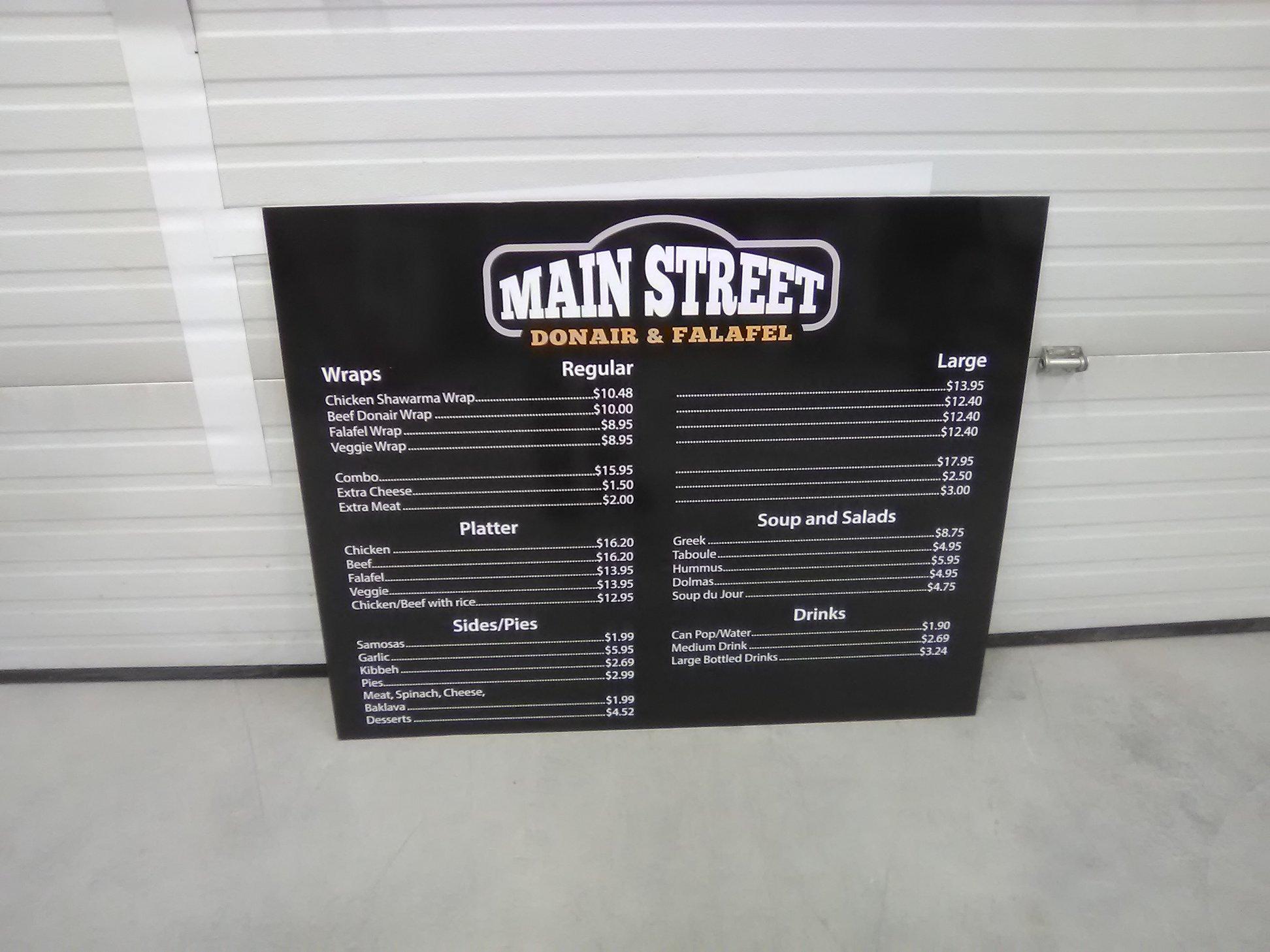 Restaurant Menu Signage