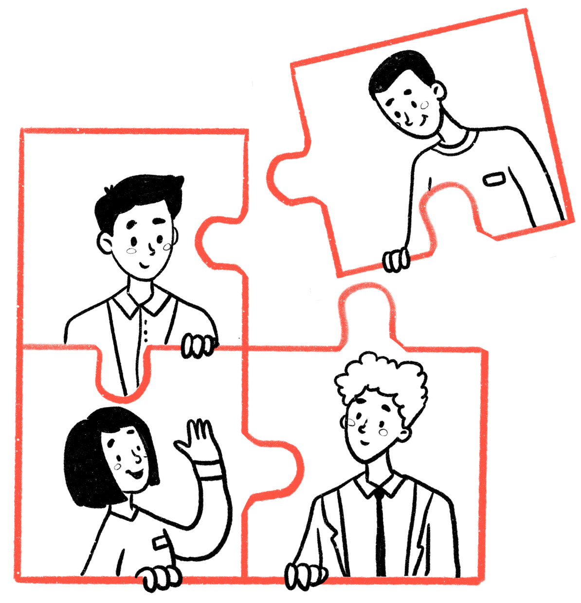 Illustration with puzzle