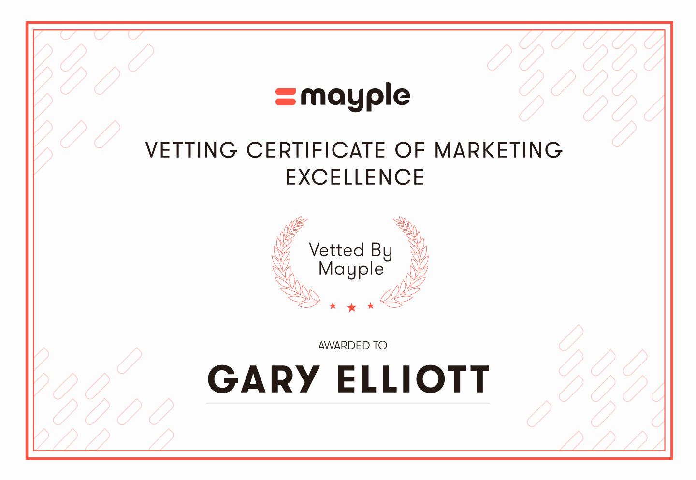 Vetting certificate