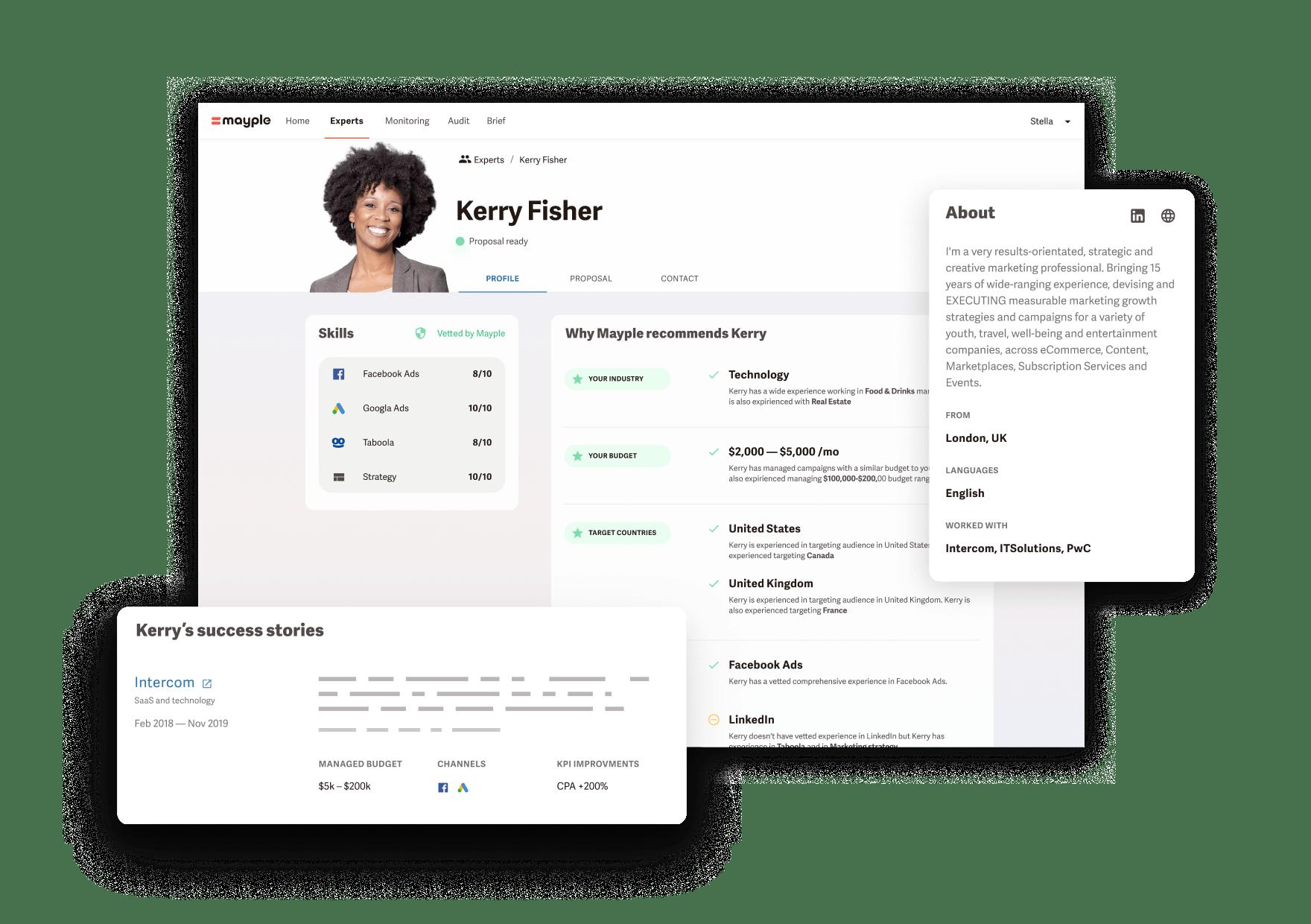 Expert profile at Mayple App