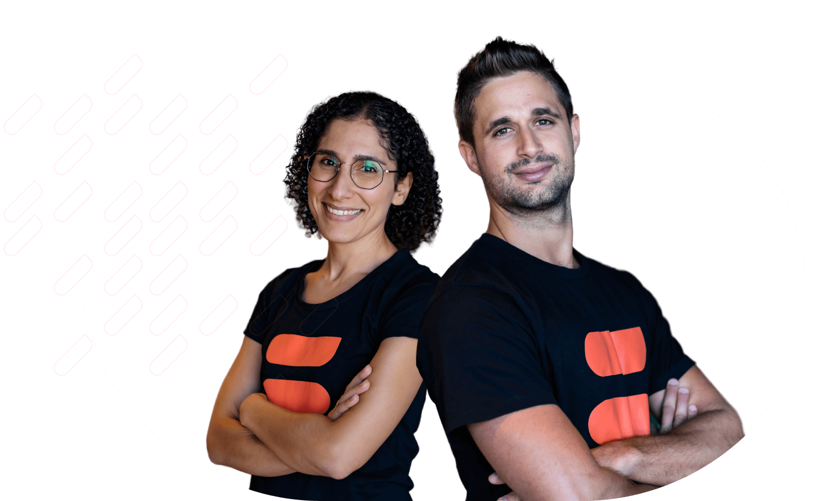 Portrait of Two persons in Mayple T-Shirt