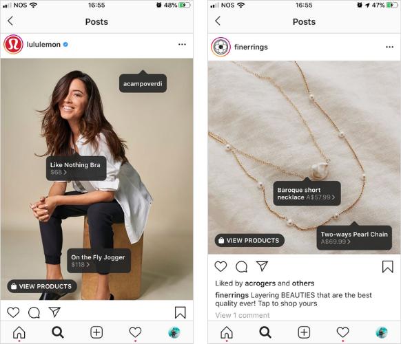 shoppable instagram ecommerce