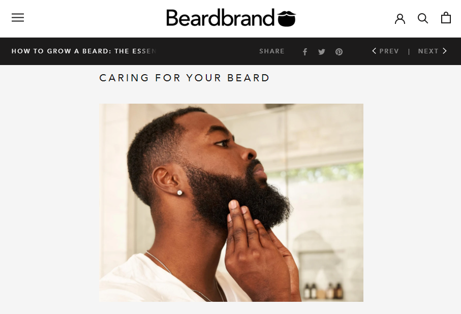 BeardBrand long form content for ecommerce