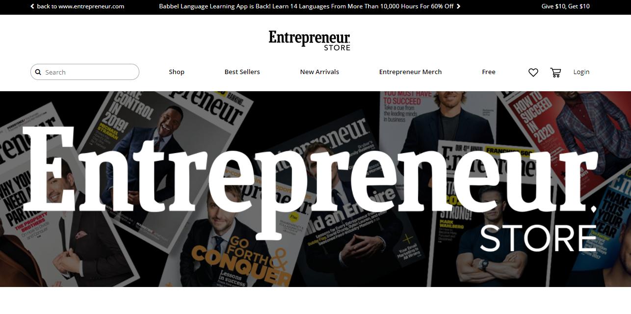 entrepreneur magazine store online for ecommerce brands