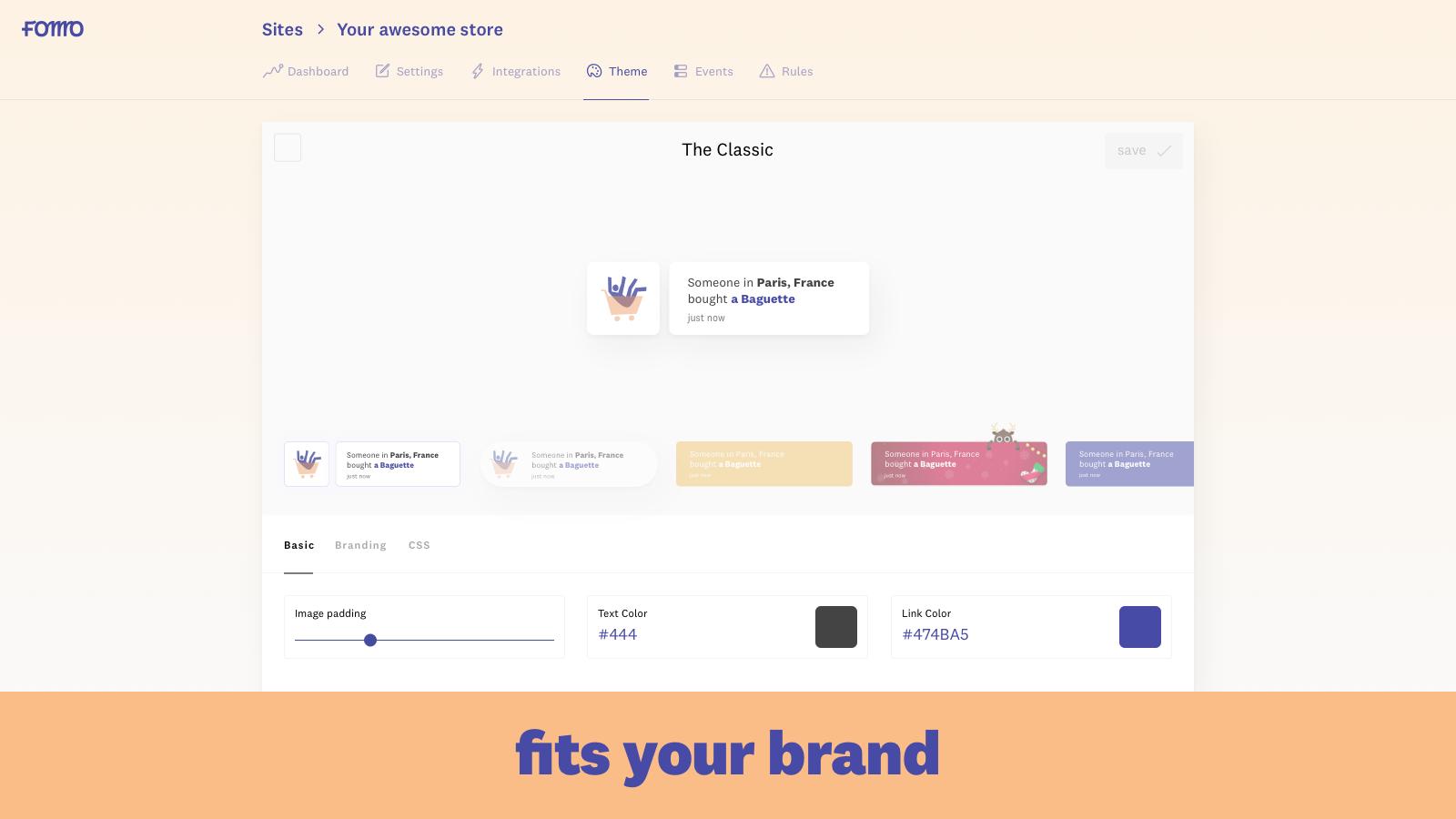 fomo social proof app shopify