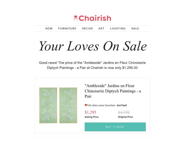 Chairish wishlist strategy