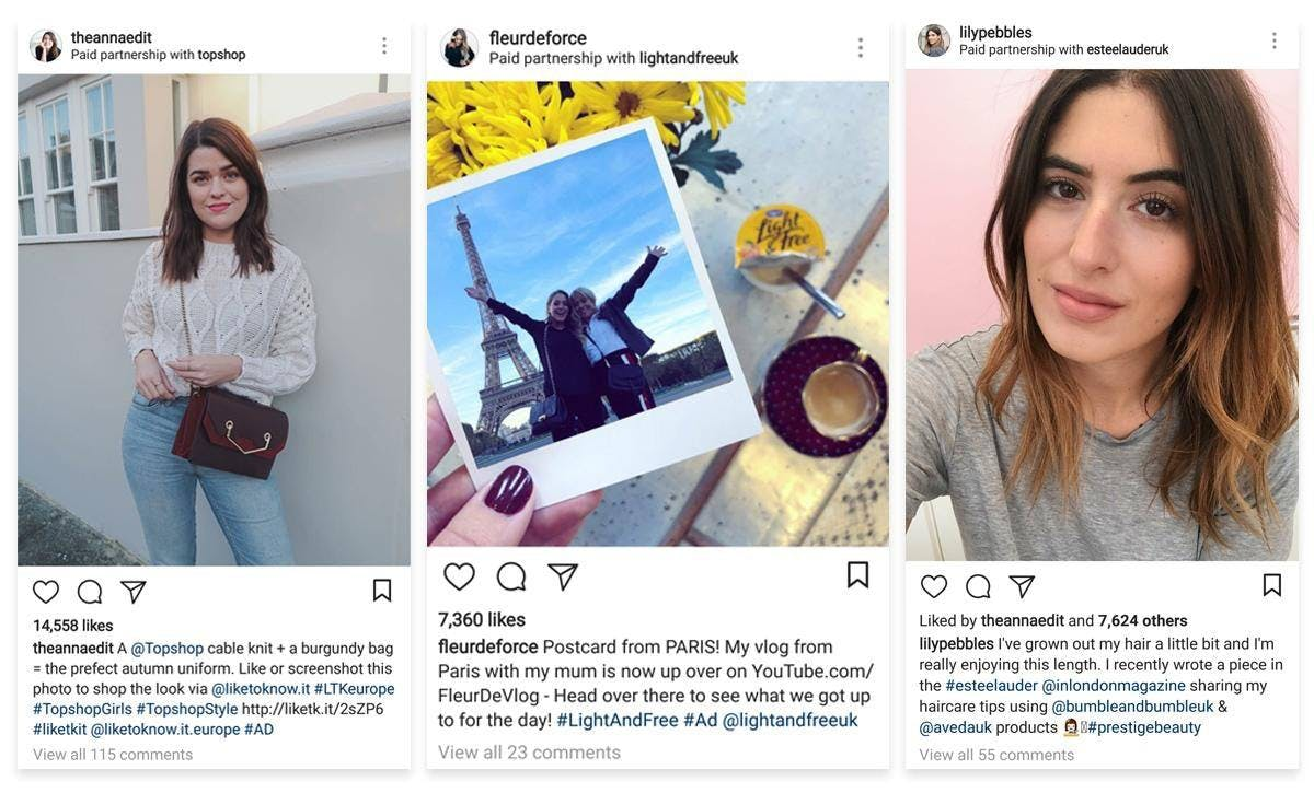influencer content used in ecommerce ads