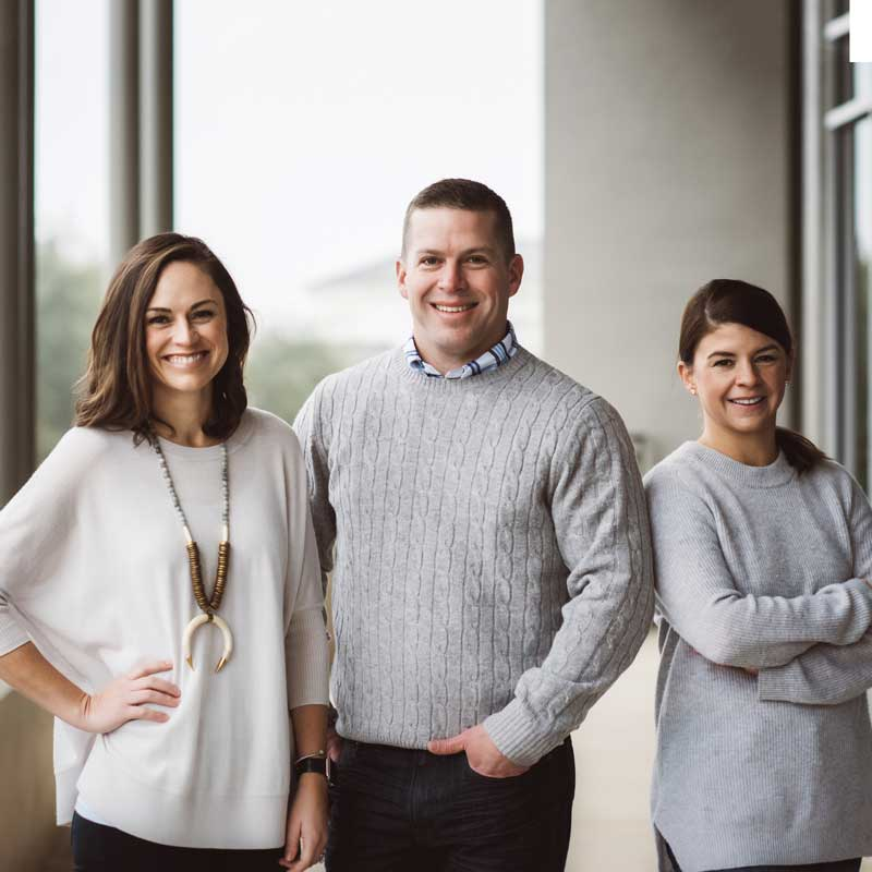 Photo of Dr. Sarah Wildey, Dr. Rex Wildey, & Dr. Sheridan Bunch