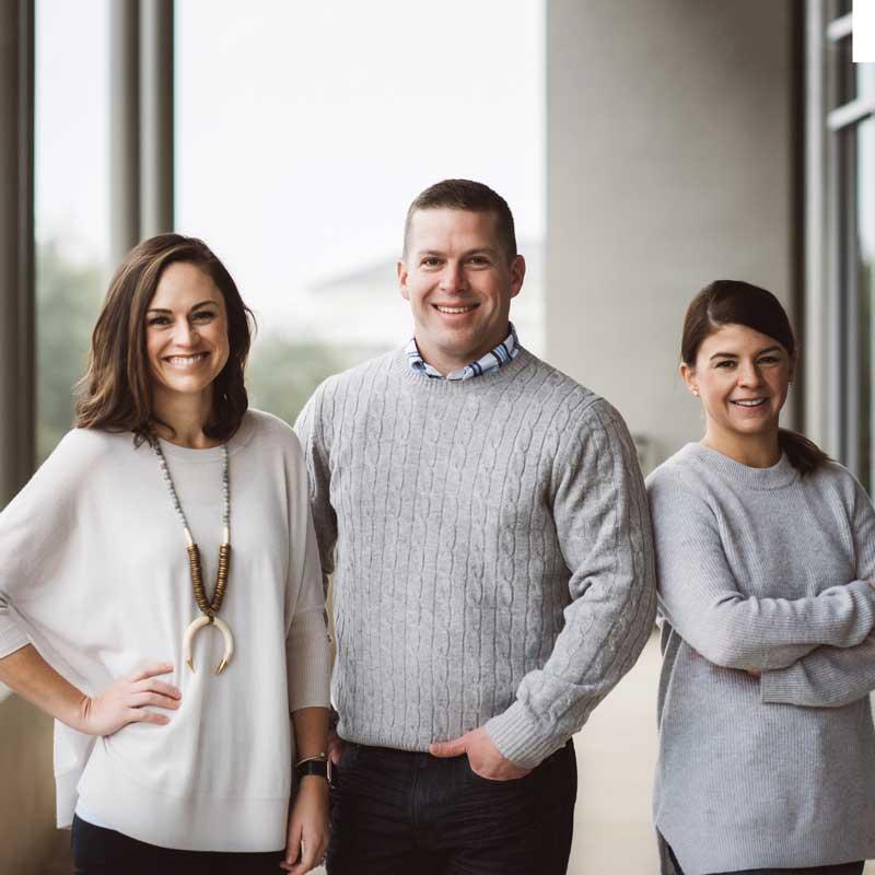 Photo of Dr. Sarah Wildey, Dr. Rex Wildey, & Dr. Sheridan Bunch
