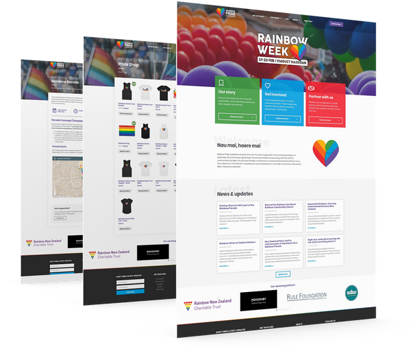 Rainbow Pride Auckland - Everything End-to-end Marketing & Development