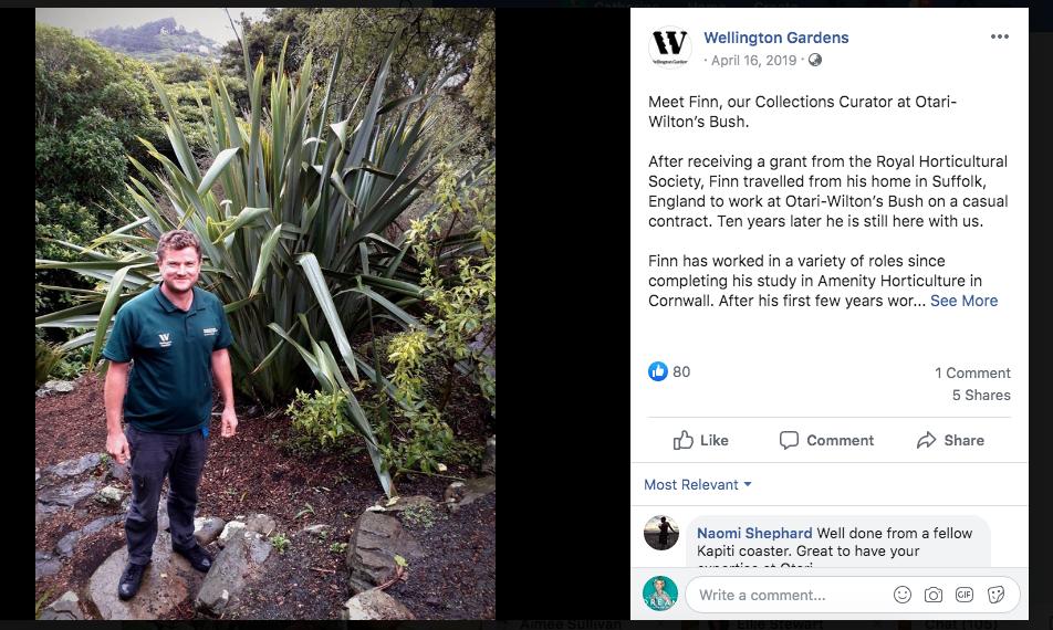 Wellington Gardens - Wellington City Council - Head of Social Media