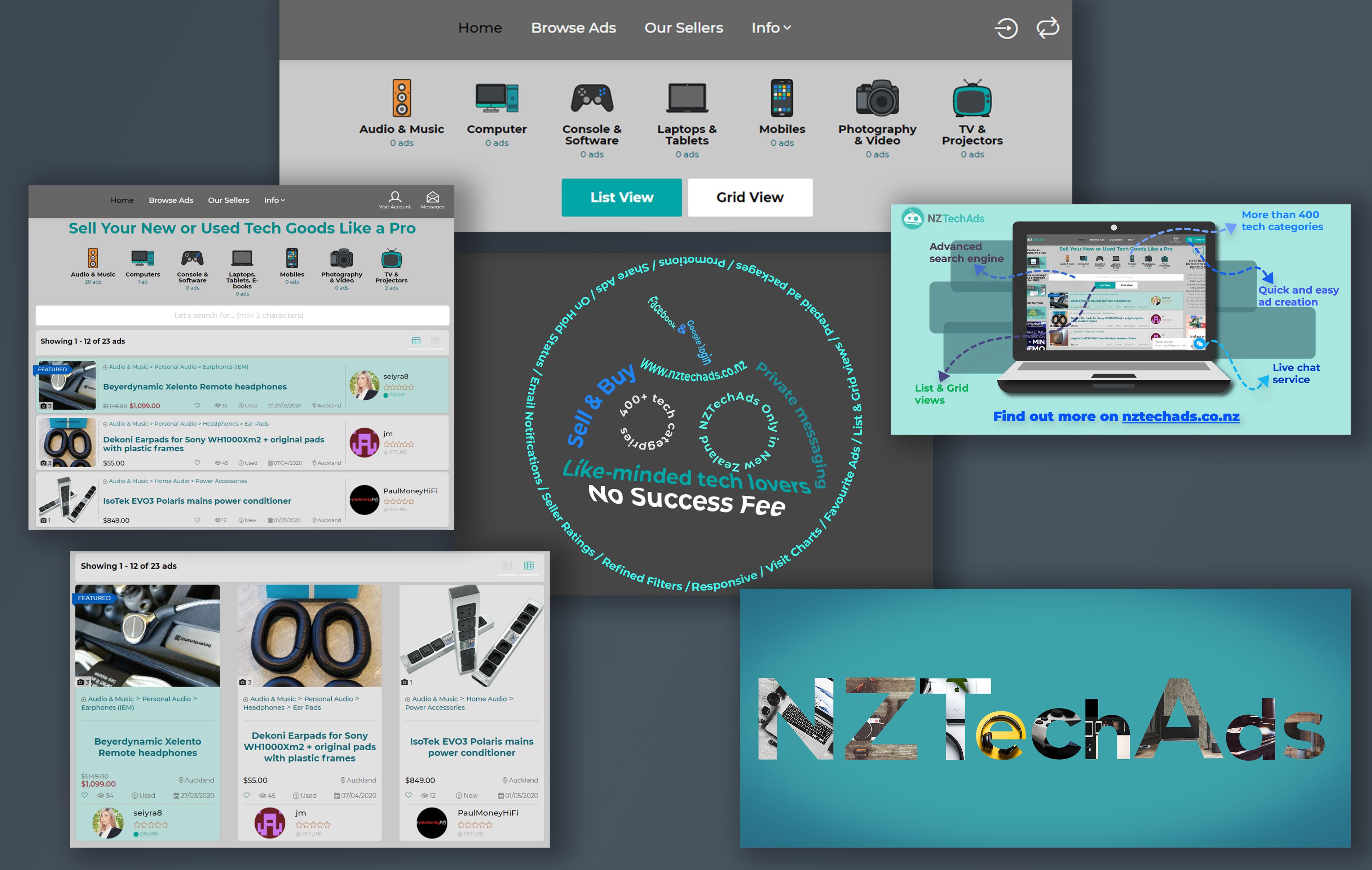 NZTechAds - UX/UI designer