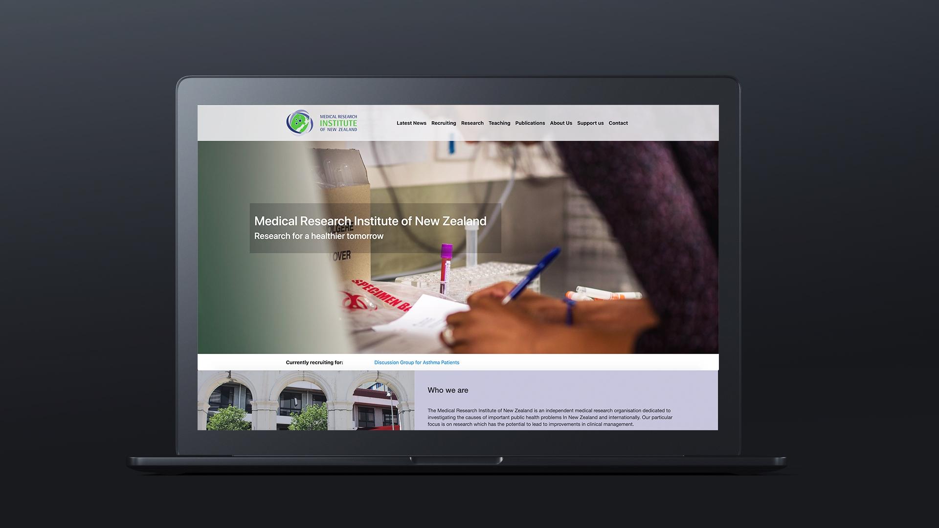 Medical Research Institute of New Zealand - Web Developer