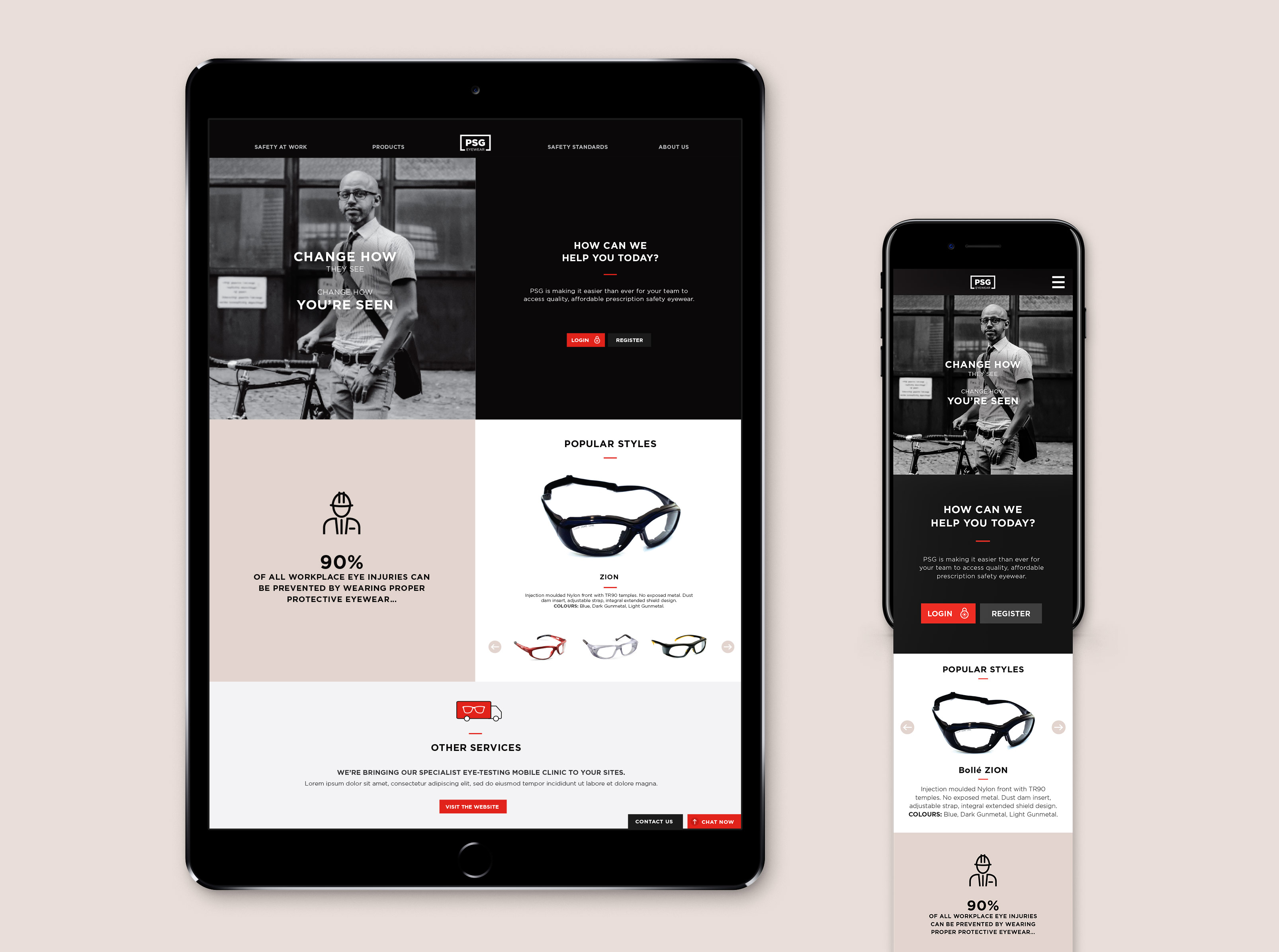 PSG Eyewear - Web and Interaction Designer