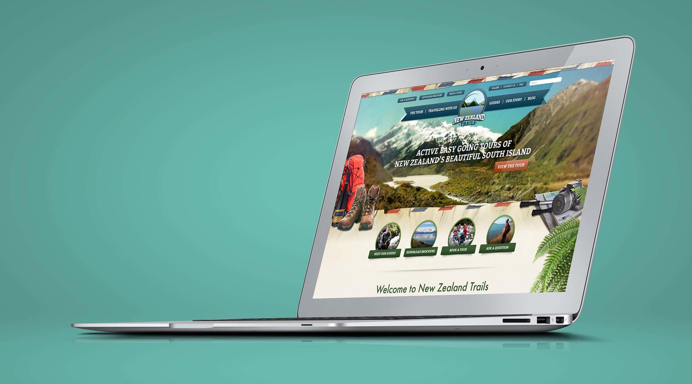 New Zealand Trails - Graphic & Web Designer