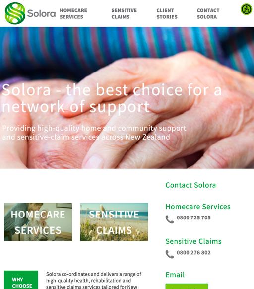 HealthcareNZ: Solora - Web developer