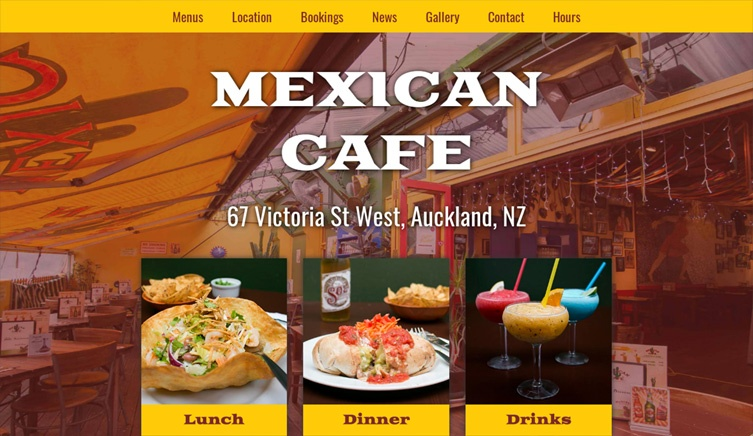 Mexican Cafe - Designer, Front End Coding