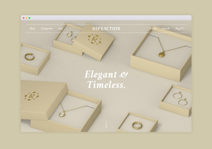 Refraction Jewellery - Website Designer