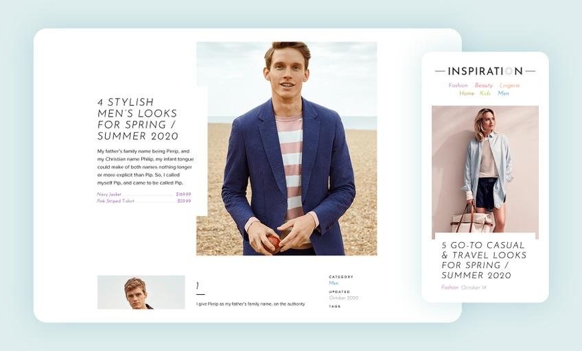 Inspiration blog - Design & development