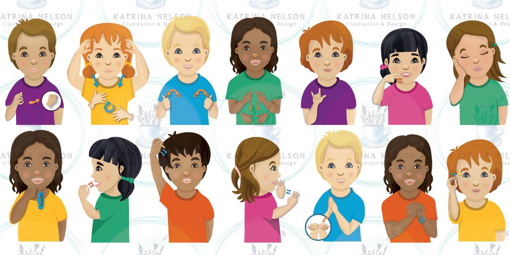 Children's Sign Language Posters - Katrina Nelson