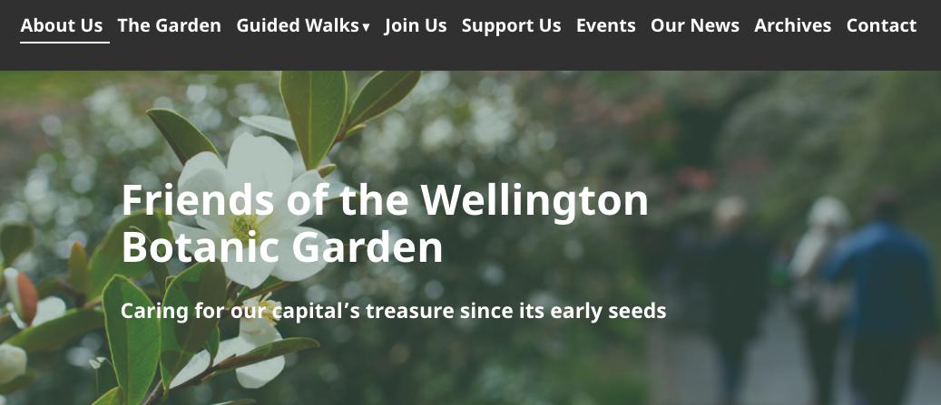 New Website: Friends of the Wellington Botanic Garden - Cat Zulver