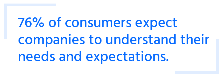 consumers expect companies to understand their needs