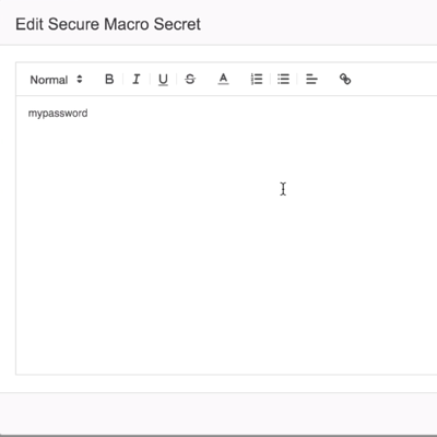security and encryption for confluence