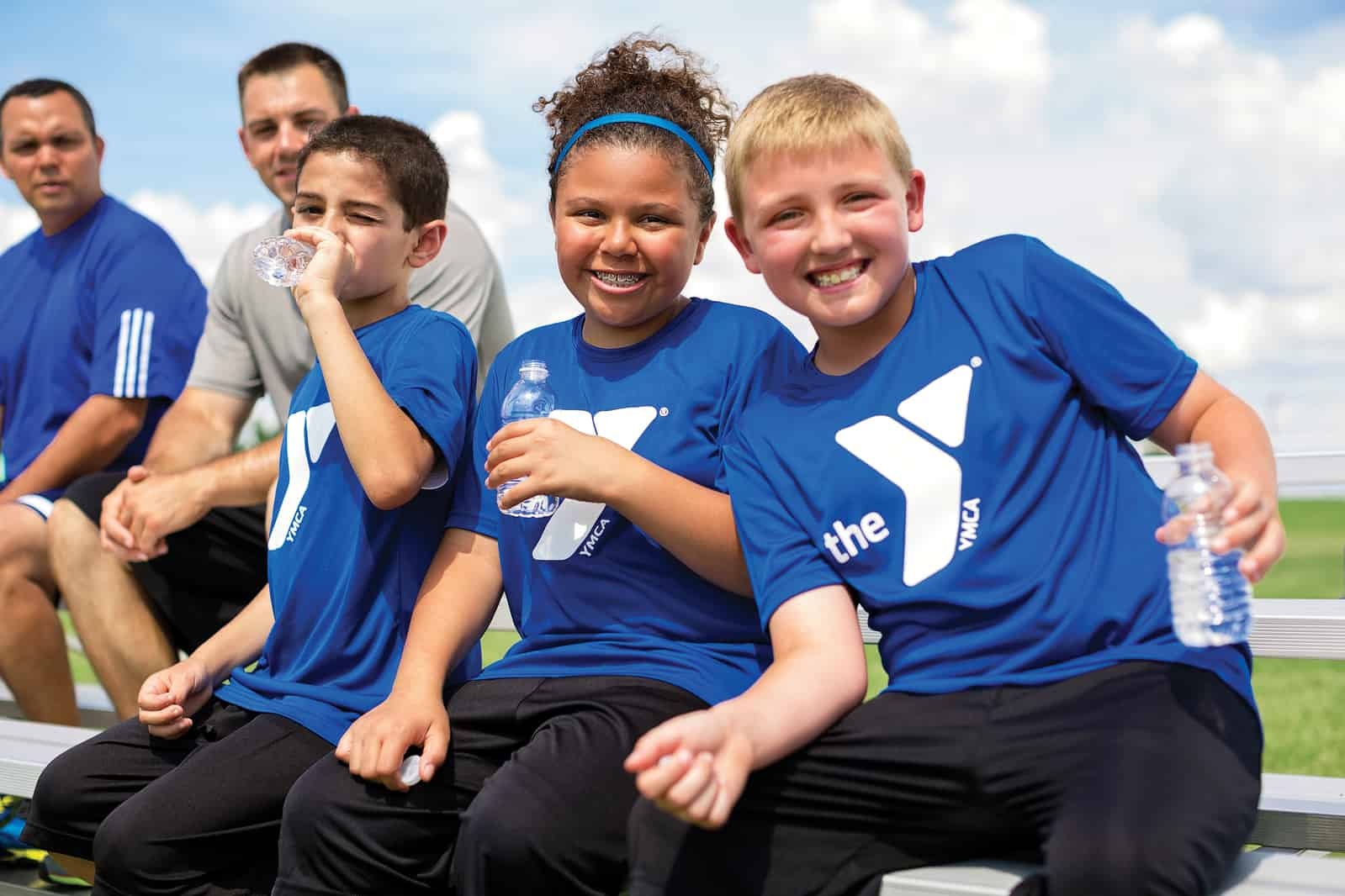kids enjoying youth soccer