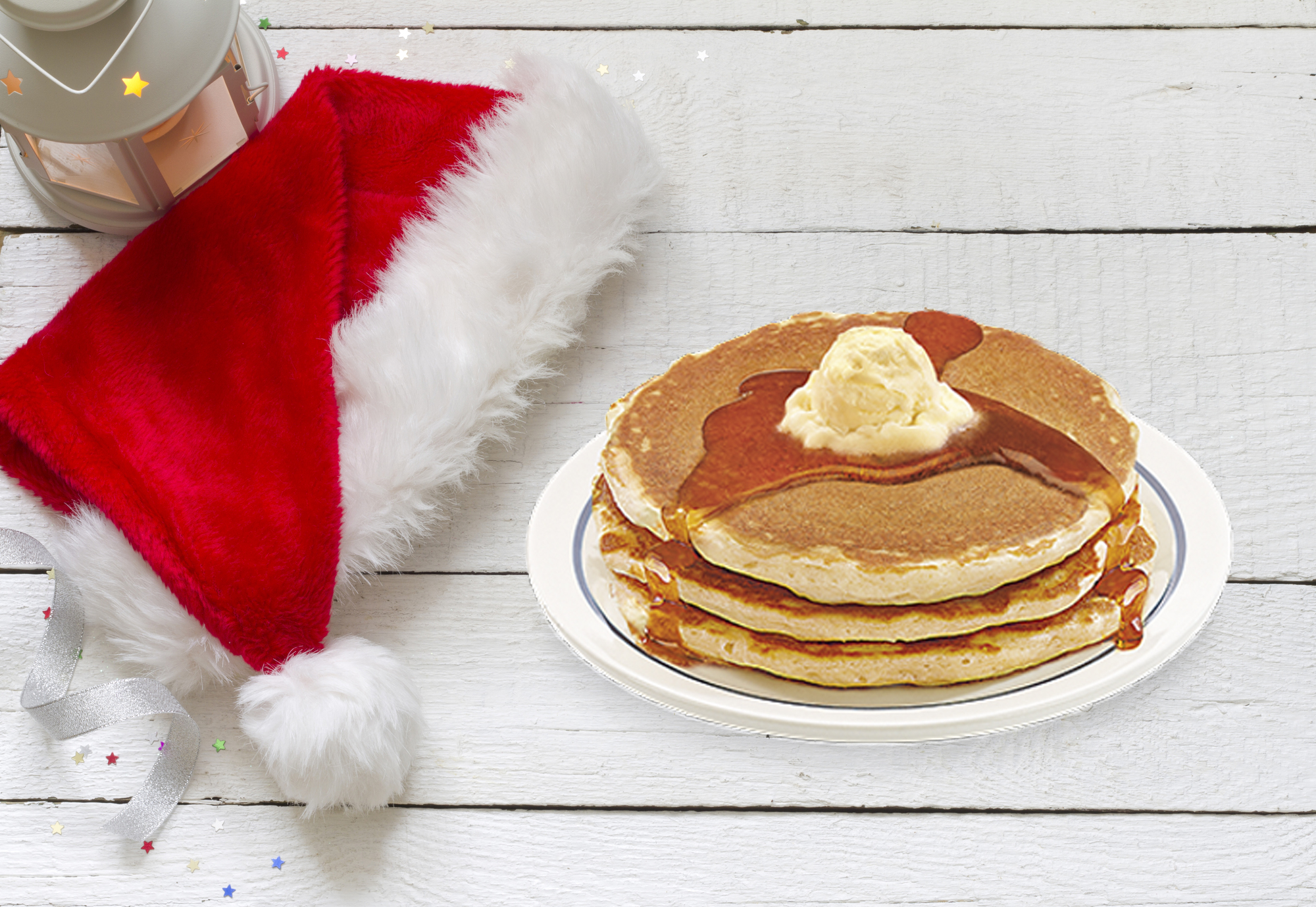 Santa hat with pancakes
