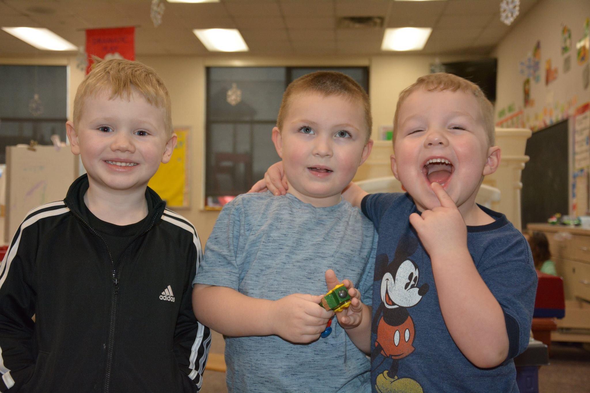 Preschool kids play together