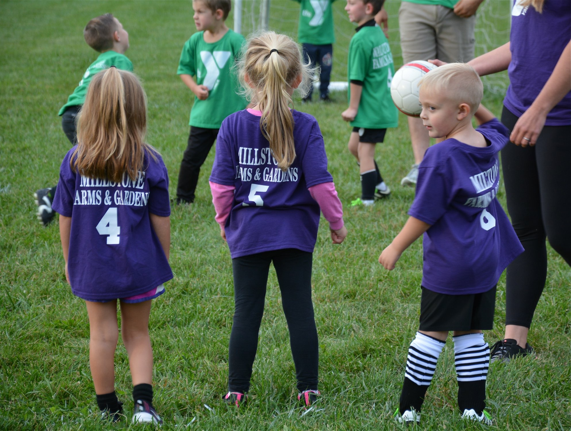 Kids enjoying youth soccer