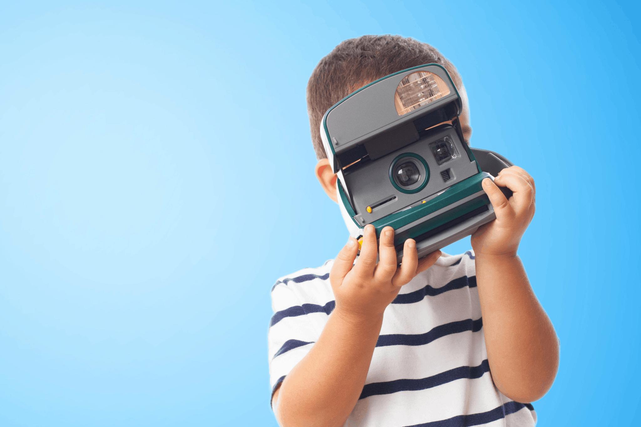 Boy takes photo