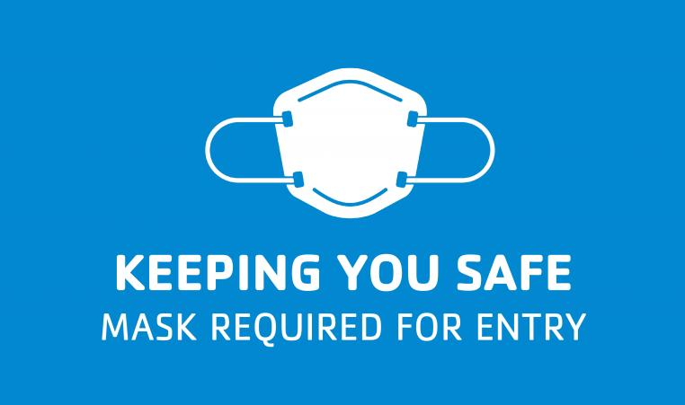 Keeping you safe mask graphic