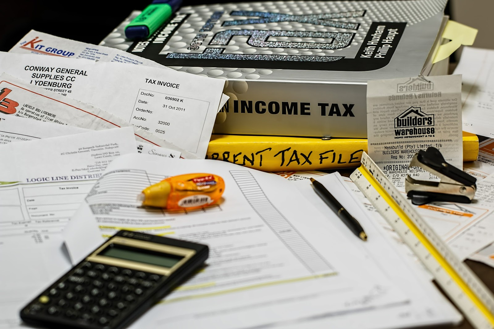 papers for calculating tax