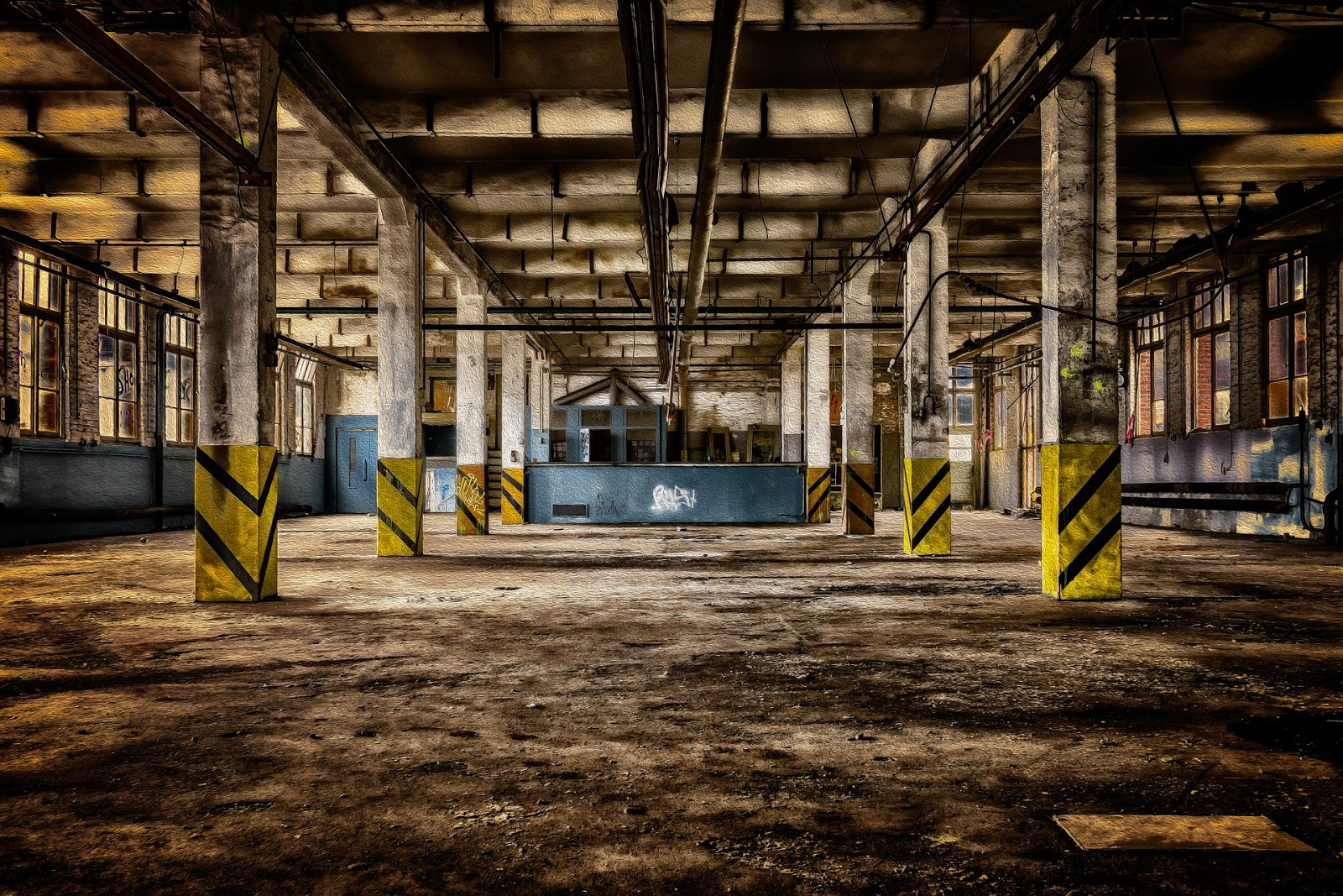 old interior of an industrial building