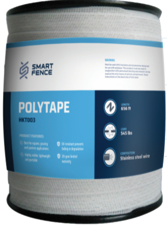 White Polytape Smart Fence Mfg