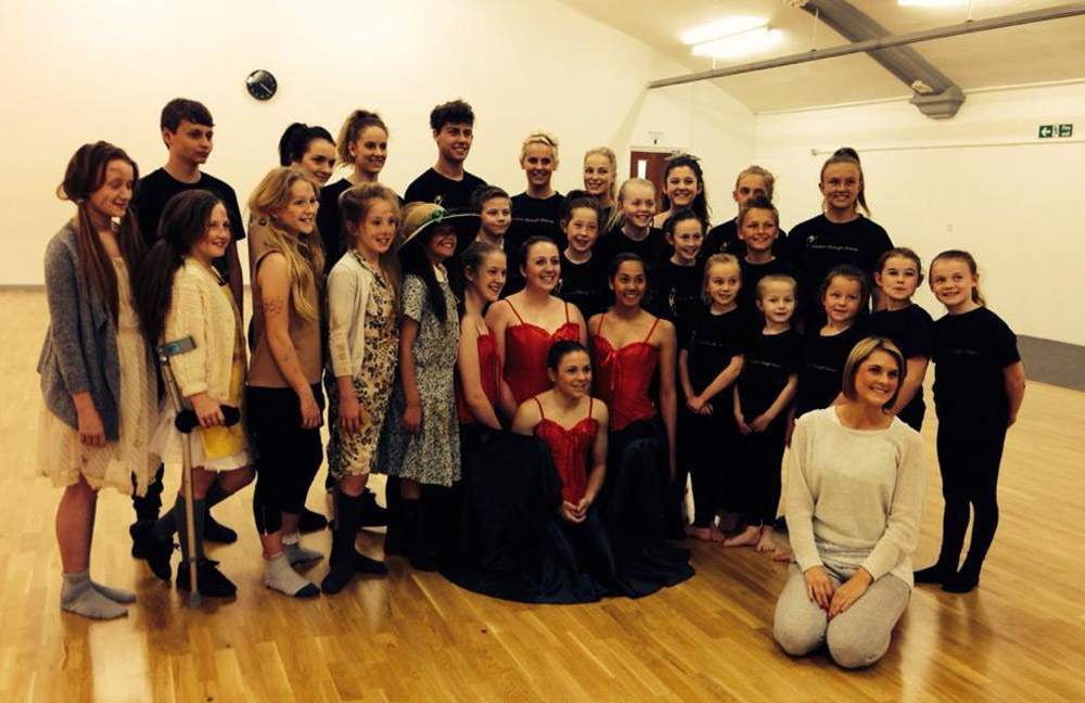 group of students at dance coaching session