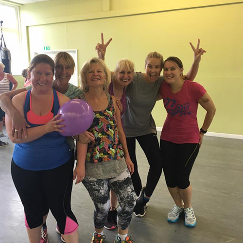 Image of women following dance class bath hen party event with Amy Young Dance.