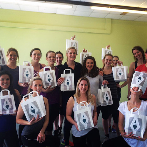 Hen party activities bristol with Amy Young Dance. Images of women with gift bags.