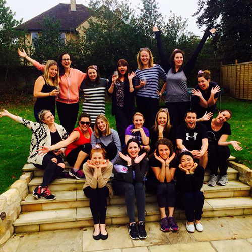Image of women enjoying hen party uk with Amy Young Dance.