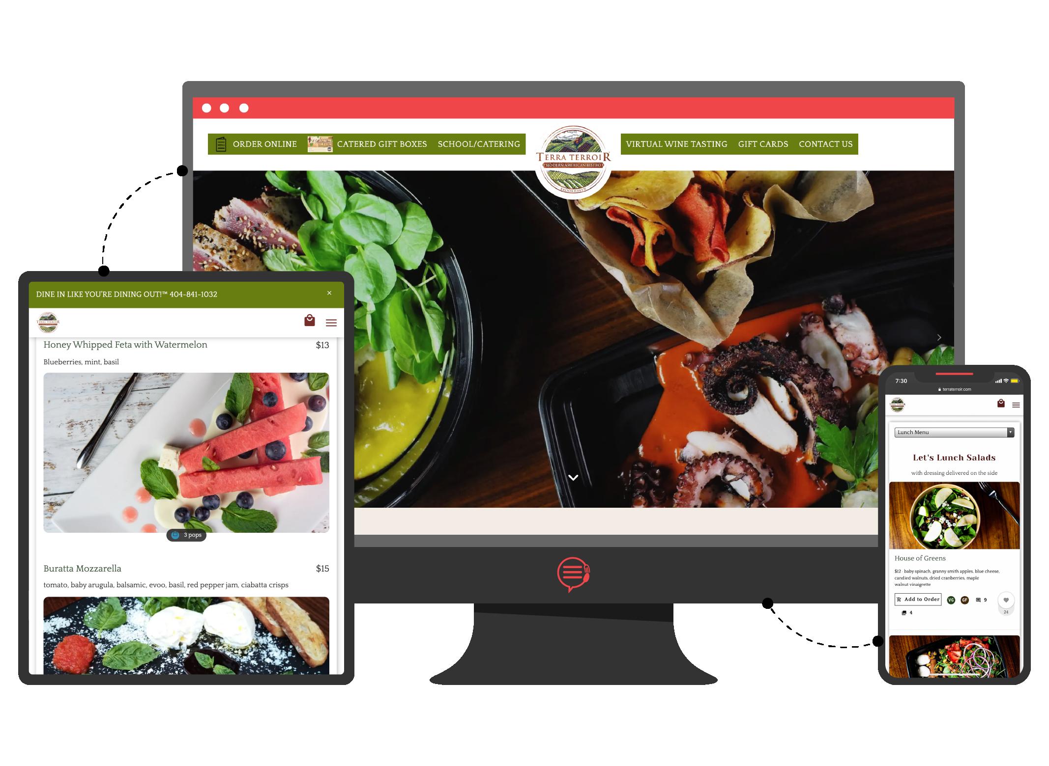 Terra Terroir website example on desktop and phone