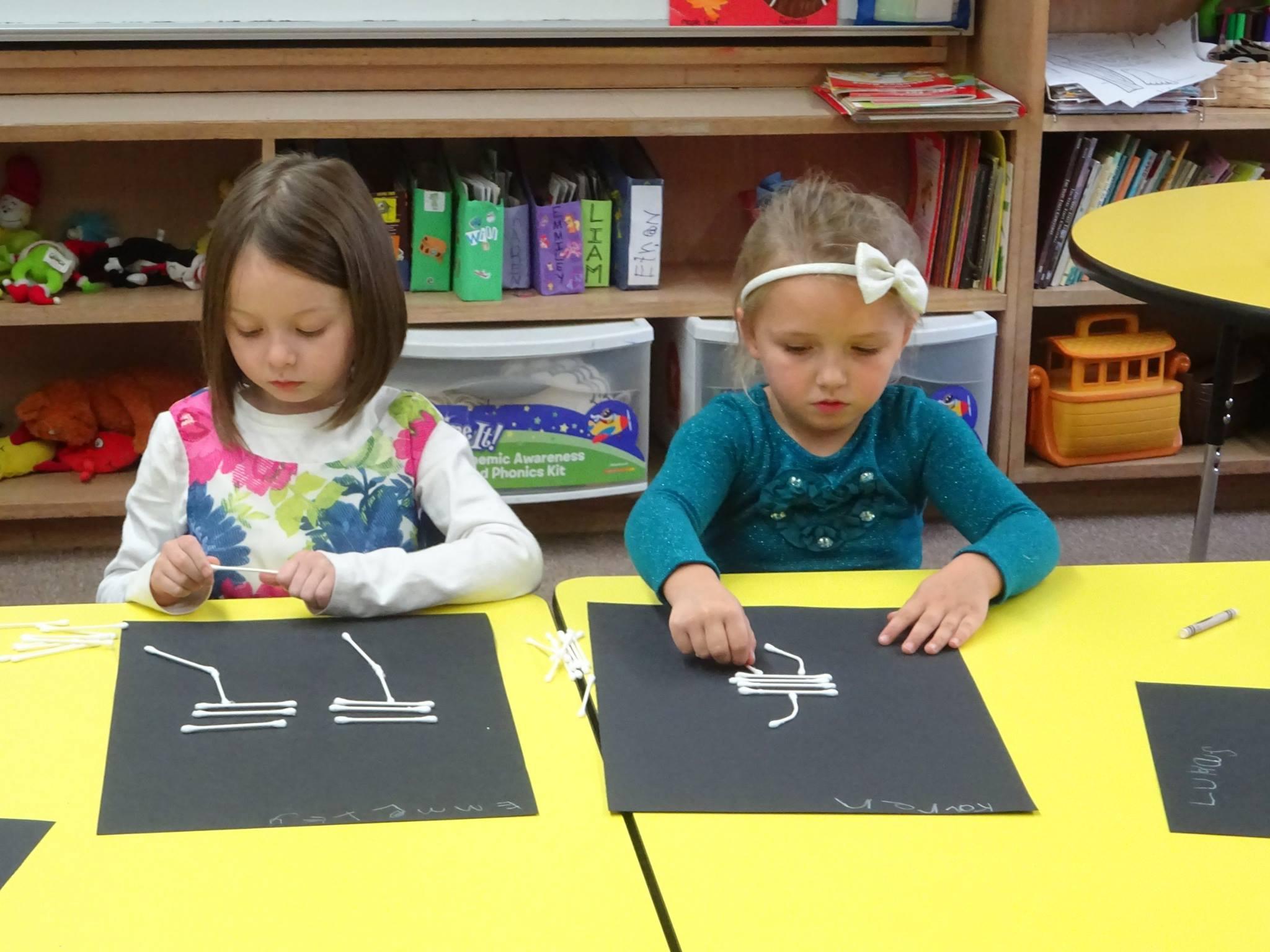 kids doing school activities