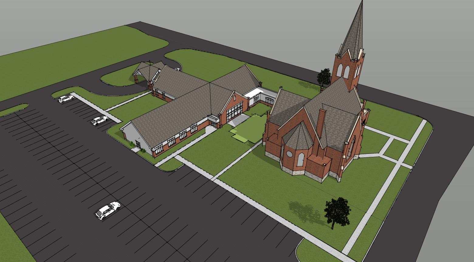 church sketch 3