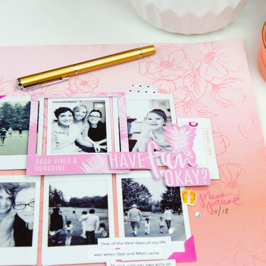 What does it mean to be a memory keeper | Using @heidiswapp Pineapple Crush by @createoften