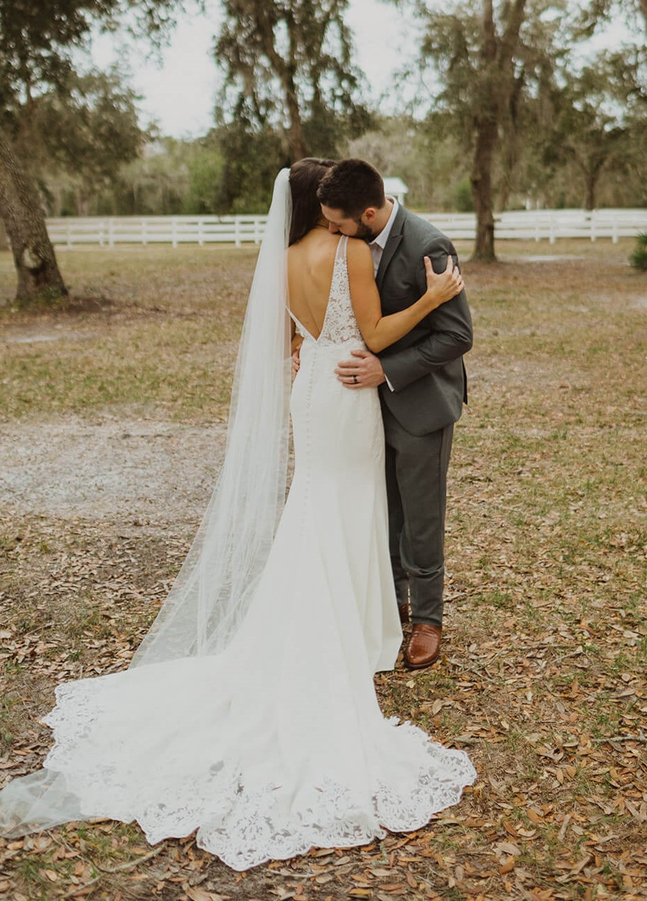 Essense of Australia wedding dress jacksonville bride lace straps