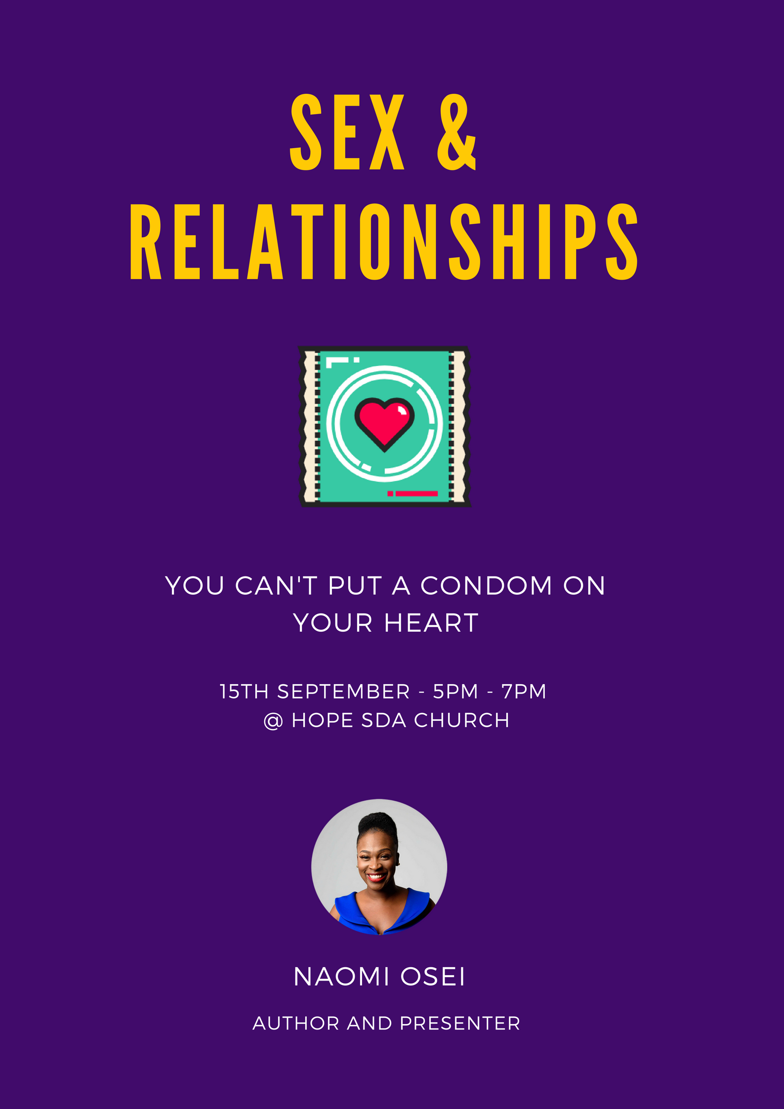 Sex & Relationships - Hope Church Event