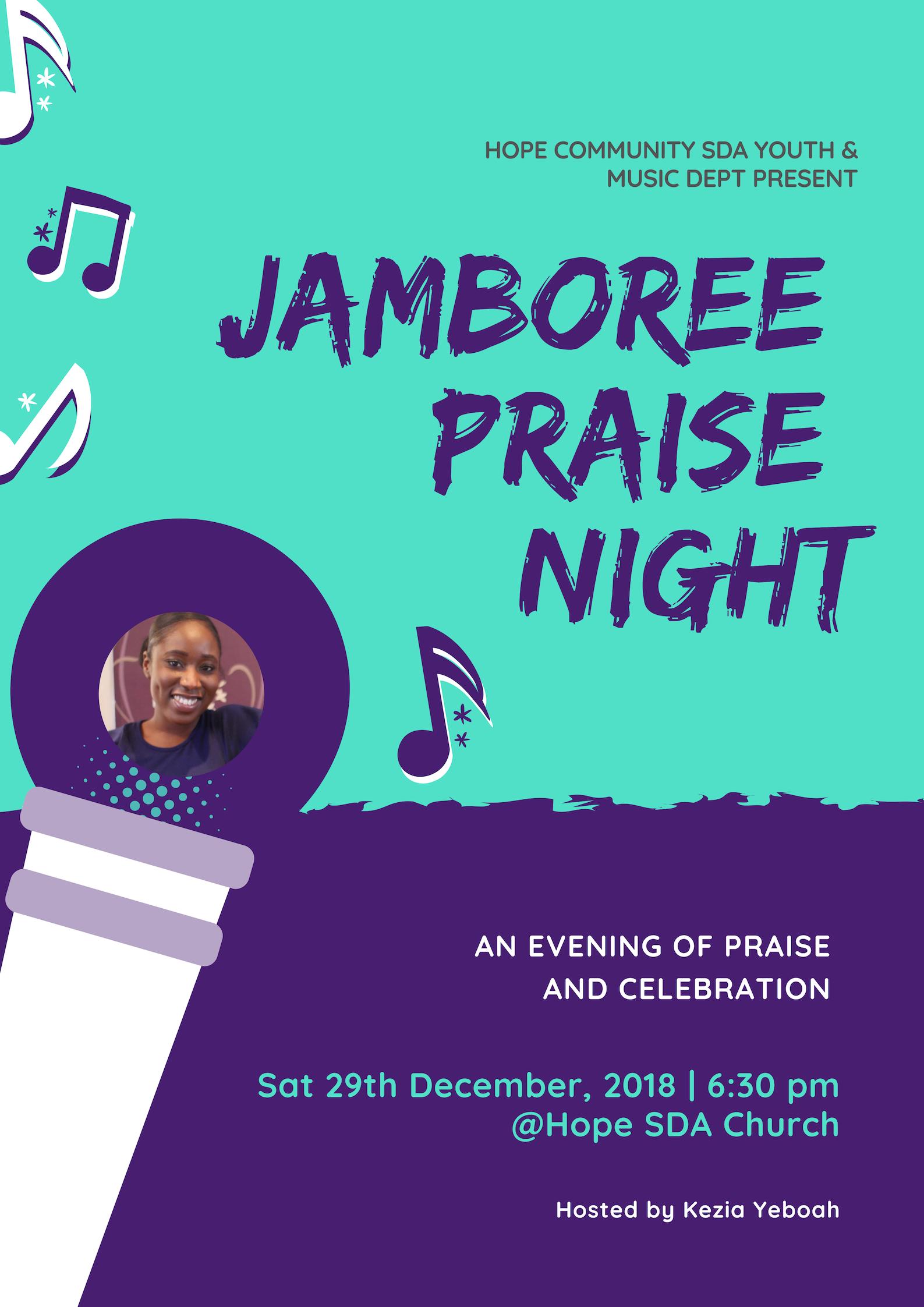 Jamboree Praise Night Hope Church Event
